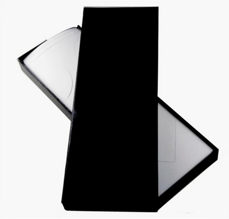 TIE BOX029 訂造純黑色領帶盒 設計長款領帶盒 網上下單領帶盒 領帶盒製造商