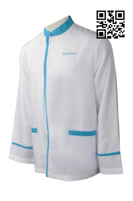 CL022 自訂度身清潔制服款式     訂做LOGO清潔制服款式  風力發電公司 行業制服  設計女裝清潔制服款式  清潔制服中心