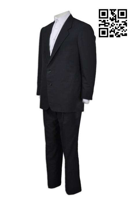 BS348 製作度身西裝款式    自訂男士西裝款式   訂做西裝款式  香港地產公司制服 物業管理 含羊毛西裝   西裝套裝  西裝製衣廠