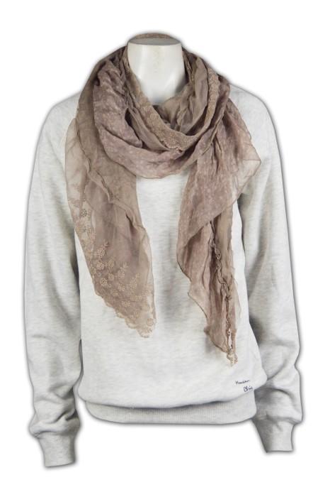 Scarf031  專業訂造雪紡圍巾   訂購團體花邊圍巾   自製圍巾品牌  圍巾專門店