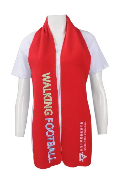 Scarf053 大量訂做圍巾款式 印製繡花圍巾 足球隊 製作圍巾生產商