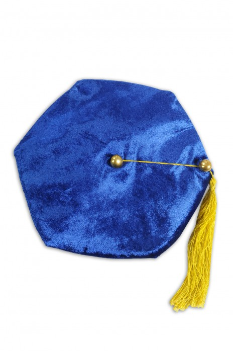 GG012 訂製博士畢業多角帽 六角帽 裡布絲絨六角 畢業帽生產商