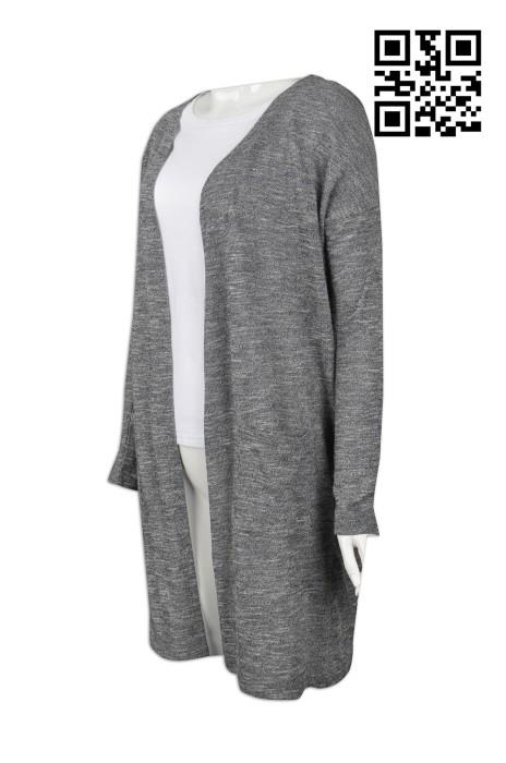 CAR020  訂造度身冷外套款式   設計淨色冷外套款式  長身過臀 製作女裝冷外套款式   冷外套生產商