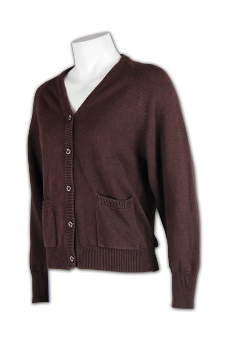 CAR022 V領開襟外套 來版訂製 毛線外套 外套diy 外套廠家