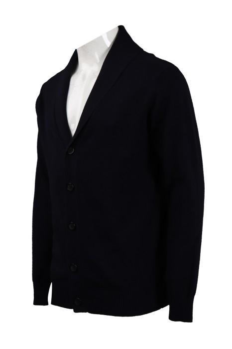 CAR036 訂造黑色開胸V領外套 2/32s100支棉 420G 冷外套製衣廠
