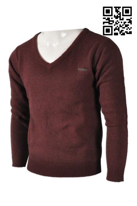 JUM030 麻花收邊針織冷衫 度身訂造 時尚補丁拼接冷衫 冷衫配搭 冷衫生產商