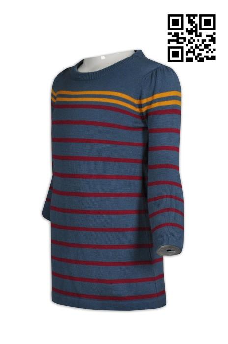 JUM032訂製兒童毛衫  製造修身兒童毛衫 間條 圓領 設計毛衫 毛衫製衣廠
