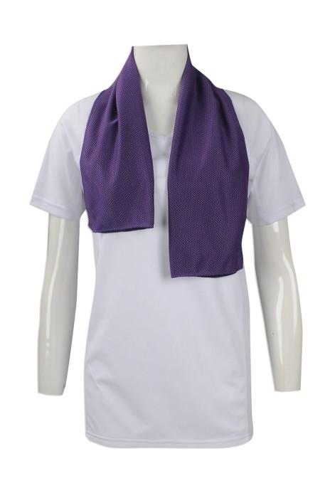 A180 大量訂做冰涼毛巾 網上下單運動吸汗毛巾 冰巾 製作淨色冰涼毛巾專營店 行山頸巾