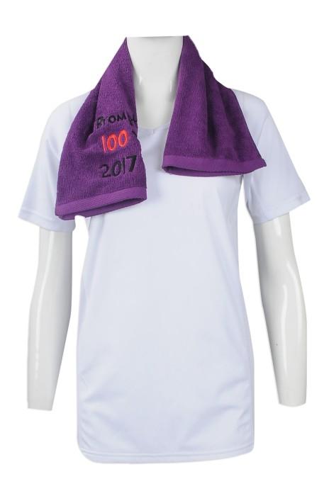 A190 訂做繡花毛巾款式 印製純棉毛巾 單車 運動 製造廣告毛巾專營店