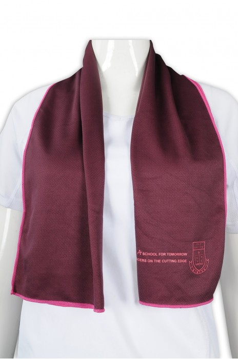 A196 設計冰涼毛巾 運動吸汗毛巾 冰巾 大學 學系 soc巾 100%滌 冰巾製造商