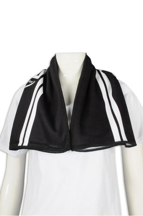 A209 製作黑色毛巾 運動毛巾 超細纖維 100%滌 毛巾製造商