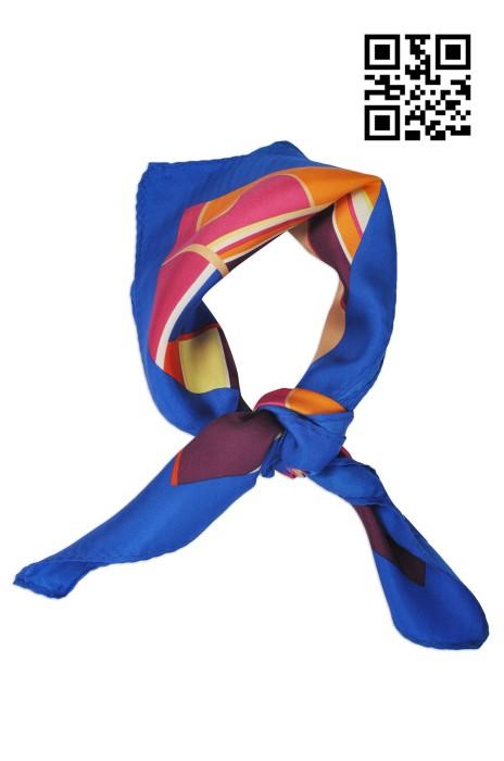 SF-015設計時尚絲巾款式   訂製LOGO絲巾款式  金融保險業  自訂真絲絲巾款式   絲巾專門店