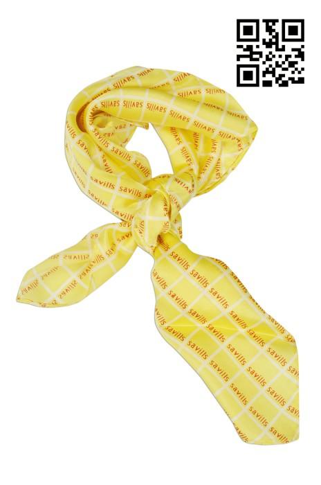 SF-016 自製度身絲巾款式   訂做LOGO絲巾款式  物業管理行業 印刷絲巾  自訂真絲絲巾款式   絲巾專門店