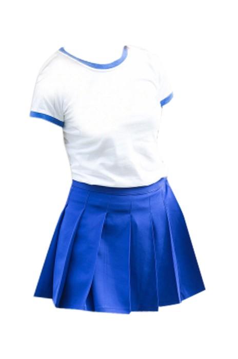 SKCU007 訂購純色啦啦隊服 大量訂造啦啦隊服 設計舞台演出服 啦啦隊服專營 現貨 價格