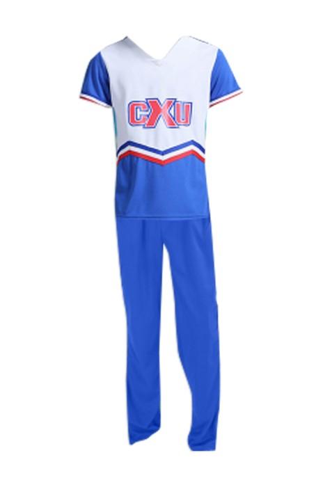 SKCU008  訂購啦啦隊啦啦操服裝 演出服健美操服 足球套裝男女兒童啦啦隊服 現貨 價格