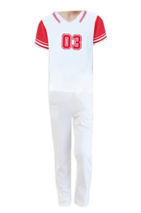 SKCU020 網上下單男款啦啦隊套裝 中褲 長褲啦啦隊服 男裝短袖啦啦隊衫 啦啦隊服製造商