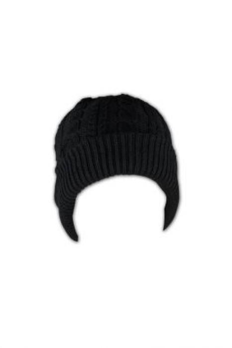 BEANIE017 麻花毛線冷帽 來版訂做 卷邊純色線帽 冷帽供應商