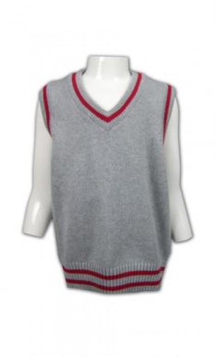 LBX017 羊毛冷背心 在線訂購 麻花撞色冷背心 校服冷背心 冷背心製造廠