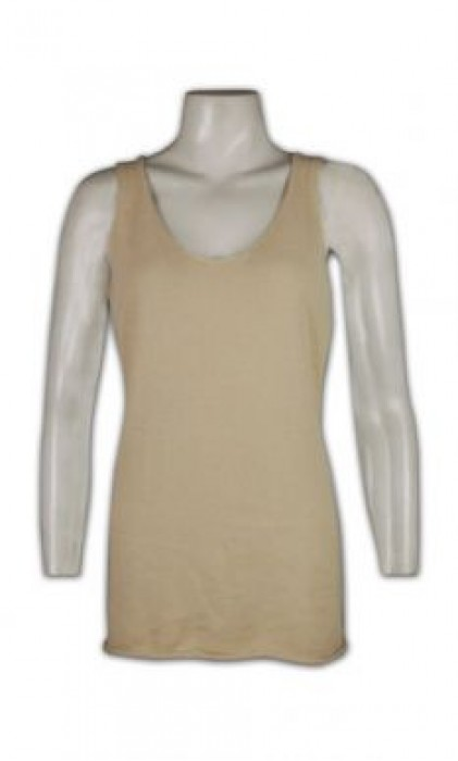 LBX026 女士冷背心 定制 羊毛背心 打底領背心 冷背心生產批發商