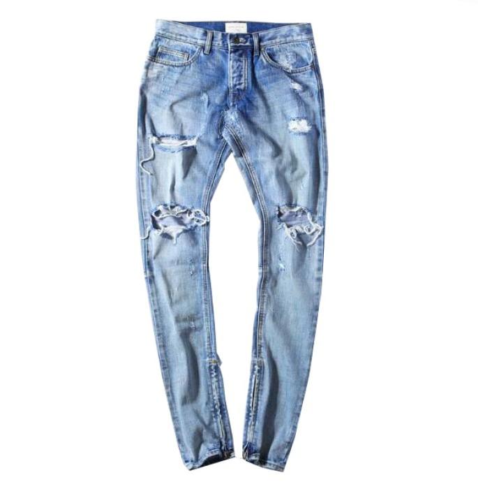 SKHT002 設計男裝破洞褲款式   自訂修身破洞褲款式   製作破洞褲款式   破洞褲生產商