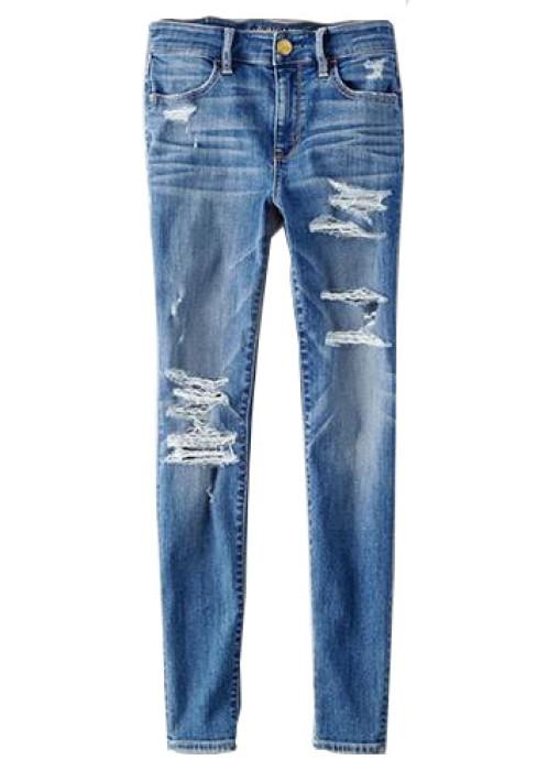 SKHT003 訂做女裝破洞褲款式   設計緊身破洞褲款式   製作時尚破洞褲款式   破洞褲中心
