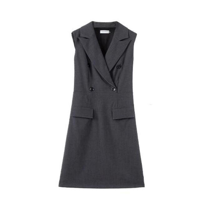 SKPD007 自製西裝職業連身裙款式    設計OL修身職業連身裙款式    訂做中長款職業連身裙款式  職業連身裙製衣廠