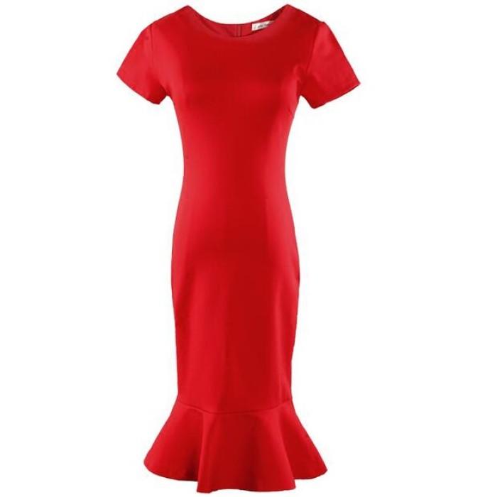 SKPD012 訂造魚尾裙連身裙款式   自訂修身職業連身裙款式   魚尾裙    製造包臀職業連身裙款式   職業連身裙工廠