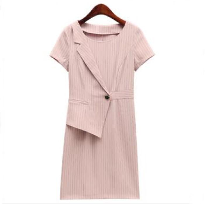SKPD013 自製時尚OL職業連身裙款式   訂造修身職業連身裙款式  設計短袖職業連身裙款式   職業連身裙製造商