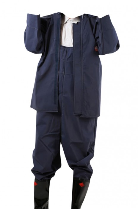 SKWK022 防水服雨衣褲套裝 背帶工作服 防護服 下水褲養殖服 帶帽連體工作服