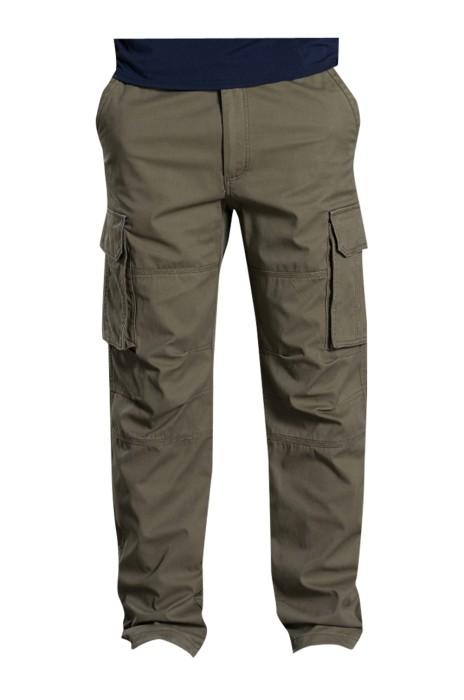 SKWK040 訂購秋冬季多口袋工裝褲 男長褲戶外直筒褲 男士工作車間褲子 純棉