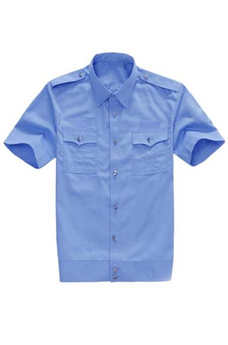 SKWK041 訂製保安短袖襯衫 夏季保安服 物業小區保安制服襯衣 男女通用襯衫 保安制服生產商