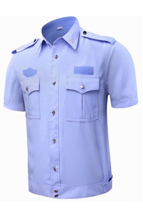 SKWK043 設計保安服短袖襯衫男 保安服夏裝 安保物業制服 工作服襯衣 保安制服製造商