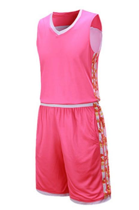 SKWTV036 訂做雙面籃球衫套裝男 透氣訓練隊衫 波衫製造商