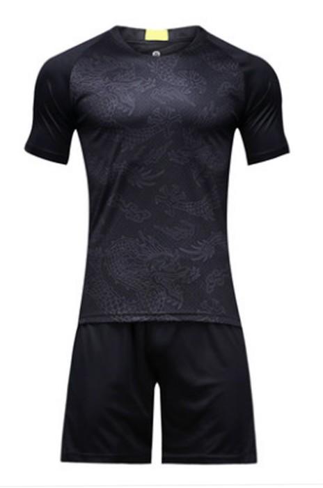 SKWTV050 訂做修身足球隊衫 後背拼接 波衫生產商