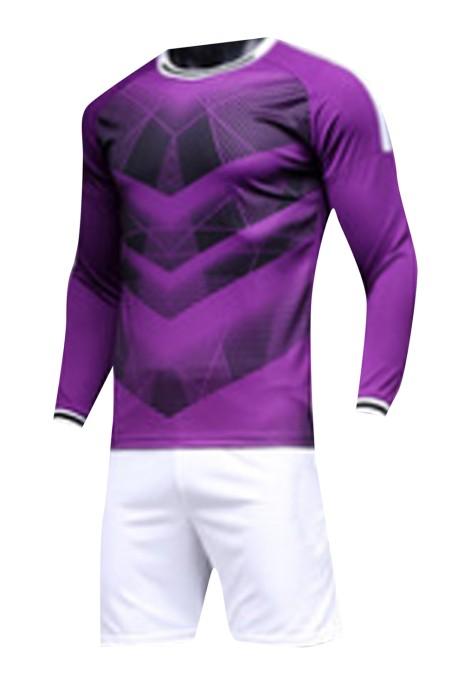 SKWTV054 訂製足球衫運動套裝 袖口拼接 波衫生產商