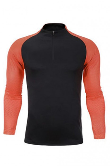 SKWTV058 訂製長袖足球訓練衫 拼接羅紋袖口 波衫製造商