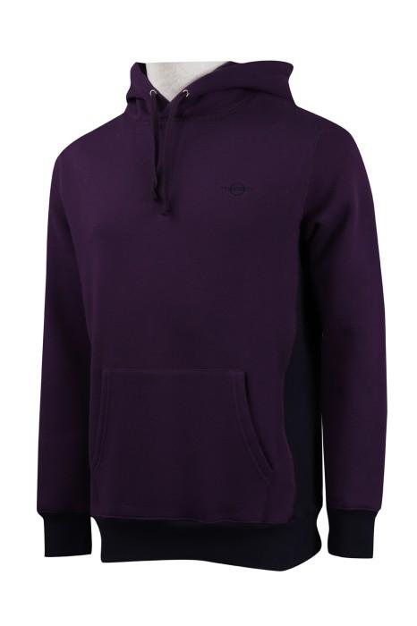 Z413  設計紫色帶帽衛衣 衛衣供應商