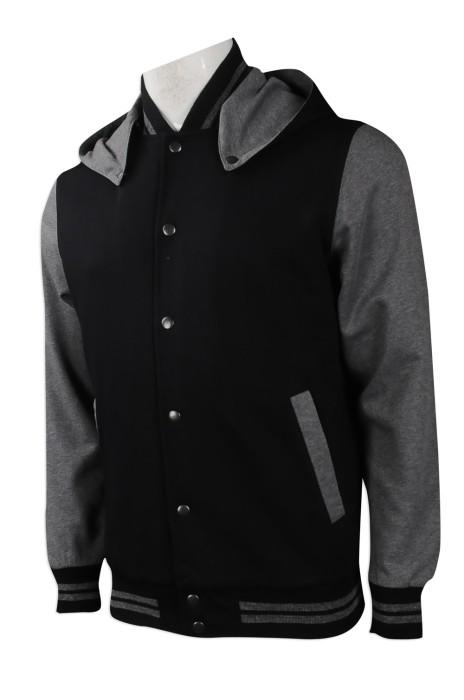 Z394 網上訂購衛衣外套 團體訂做衛衣外套款式 新加坡 設計帽款 棒球褸 衛衣款式生產商