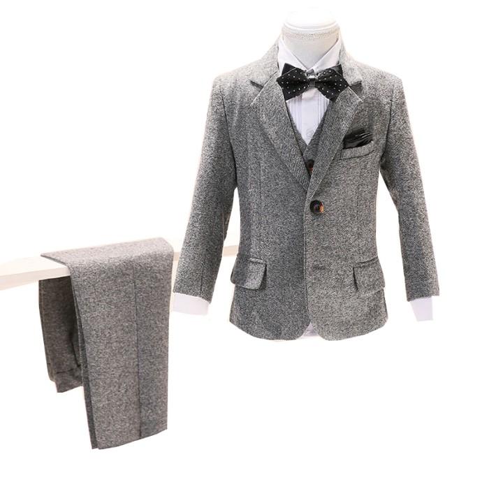 SKCST014 自訂兒童西裝款式  花仔禮服 花仔衫 表演服 面試 喜慶活動 五件套  兒童西裝廠房