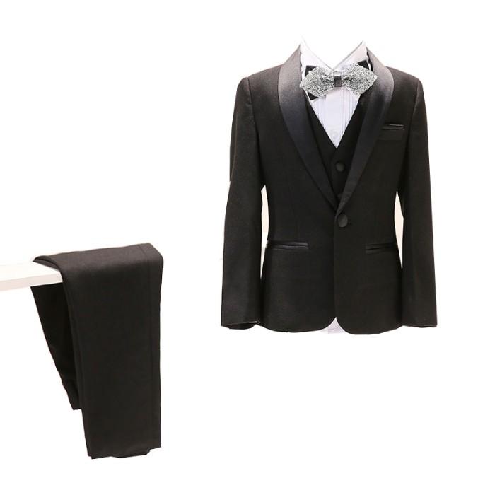 SKCST018 設計黑色兒童西裝款式  花童禮服  花仔衫 兒童西裝專門店
