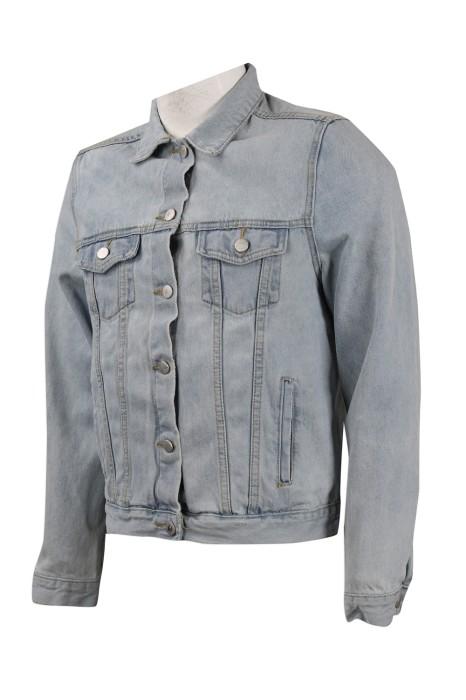 JN003  製作淺藍色牛仔外套  牛仔褸 供應商