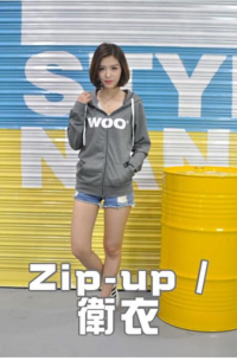 模特展示-zip-up/衛衣