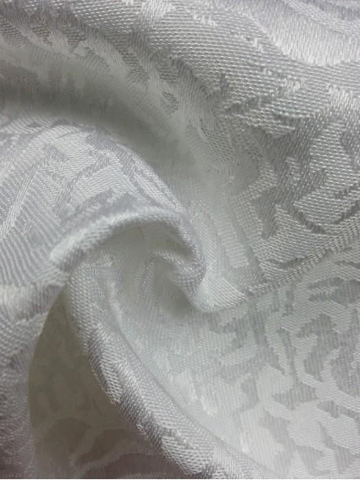 TB-FDN  提花桌布  枱布 100%滌  散花牡丹-純白  花瓣紋