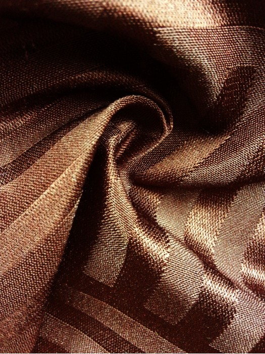 TB-FDN  提花桌布  枱布 100%滌  橫豎條紋-深褐 橫間紋