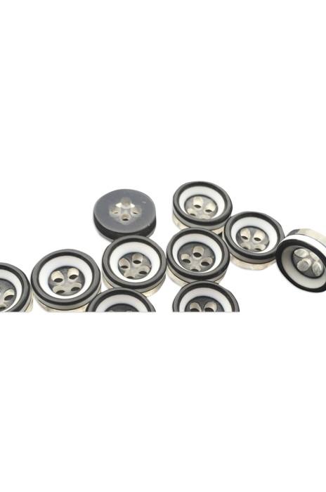 TB-PGSG  圓形加厚 白加黑加透明 三層樹脂 碗扣襯衫紐扣 鈕扣 18L=11.5 MM  HX-001