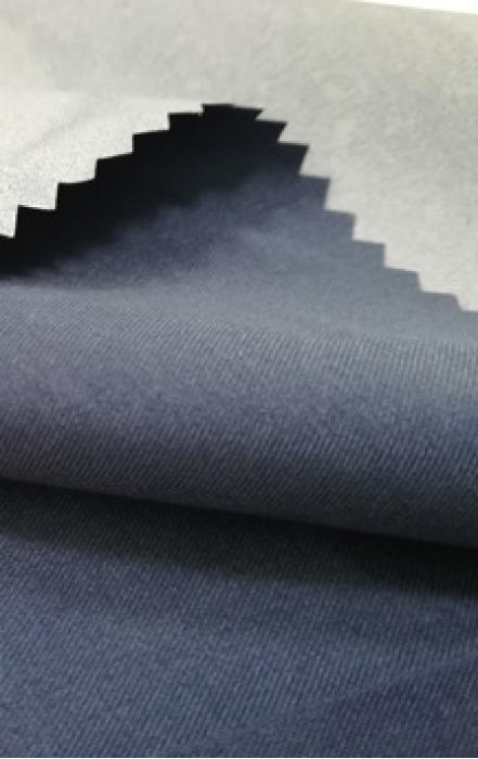 JS-DGAI  斜紋磨毛桃皮絨PU白  戶外防水塗層布料 沖鋒衣棉服裝面料