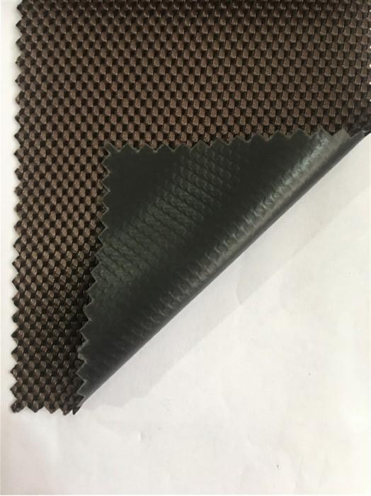 JS-CNYI-雙色 1800D 粗斜紋 PVC-54 尼龍面料  背囊/雨衣面料   防水 防油 圍裙布料