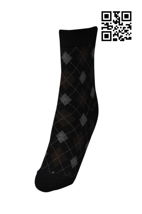 SOC028  定購格仔保暖長襪   製造時尚男士長襪  保暖長襪  來樣訂造長筒襪 襪子供應商