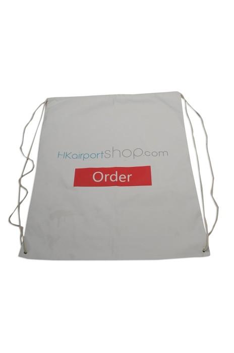 DWG018 大量訂做帆布索繩袋 訂造束口袋 帆布索繩袋 香港國際機場 零售商店 環保袋 製作帆布索繩袋中心 #34*43cm