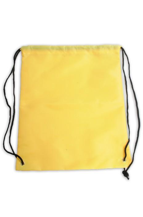 DWG022 設計淨色束口袋 背袋 100%滌 索繩袋製造商      #34*43cm